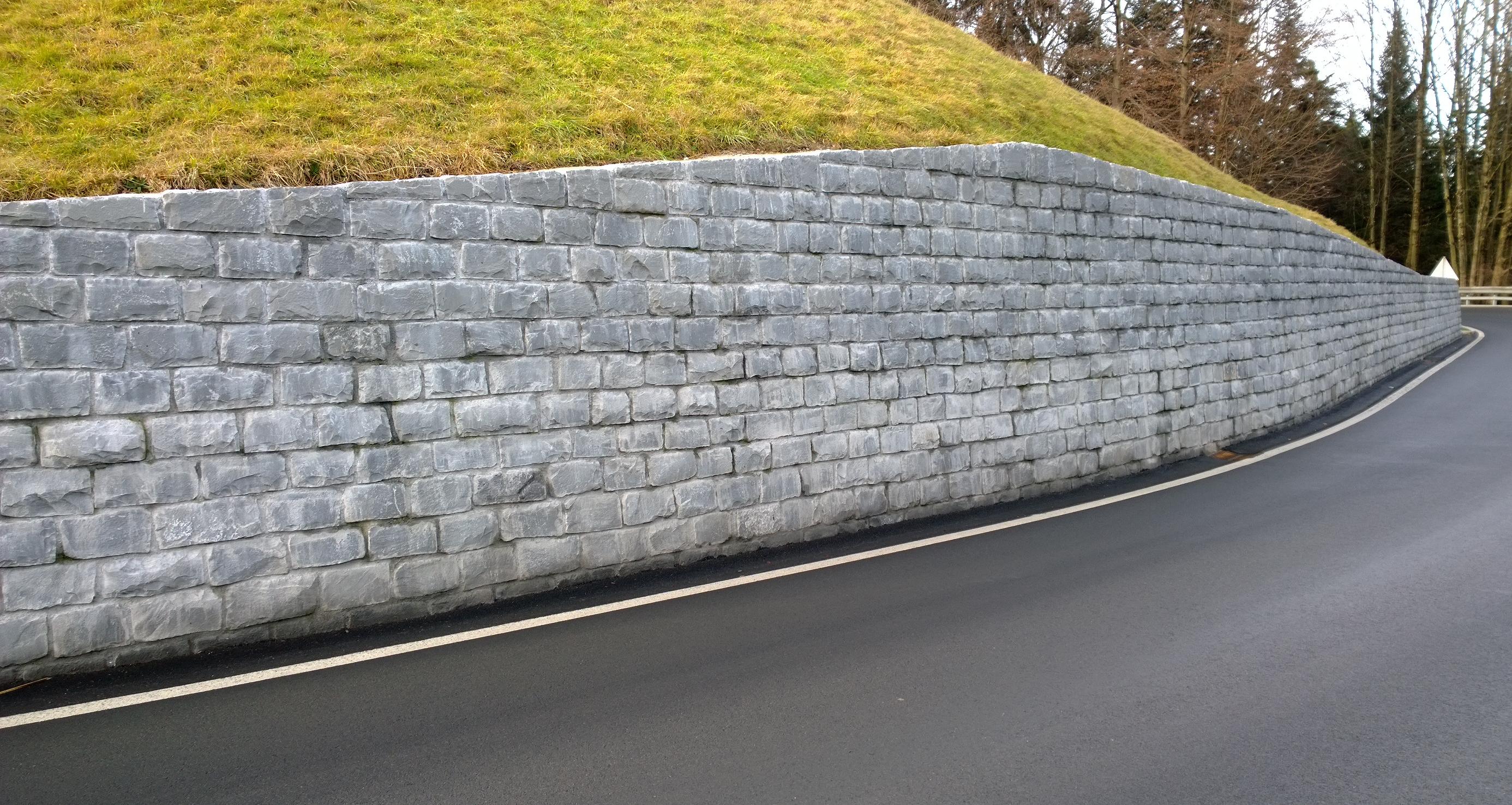 Mauer Am Knie Verblender Schwarzachtobler Sandstein