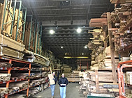 Selecting wood at the mill