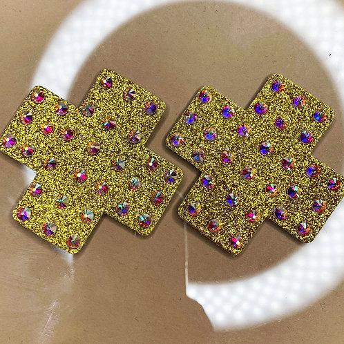 Mini Gold Shimmer Crosses