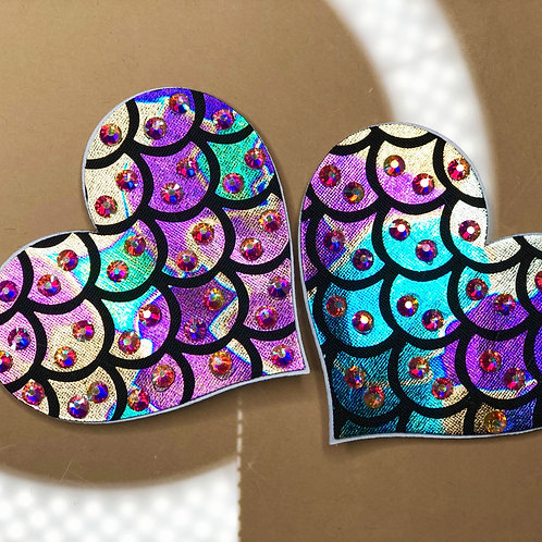 Rainbow Fish Scale Pasties