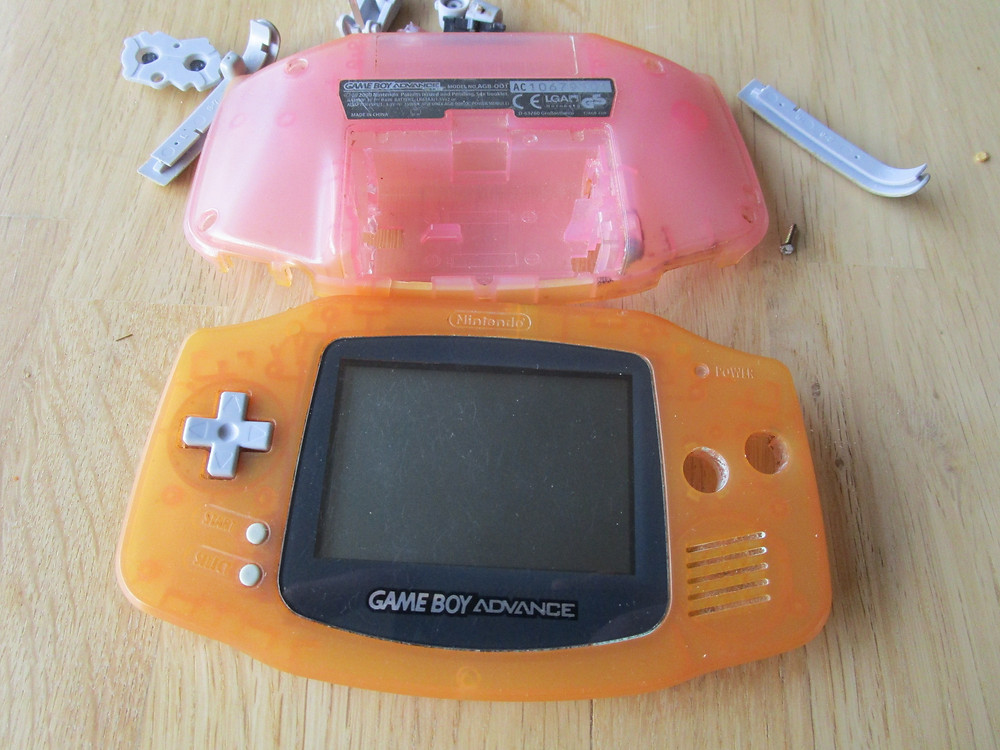 Bleached and dirty original GBA parts