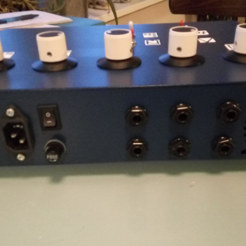 Love these knobs!  Ex-broadcast desk knobs, 38mm dia.