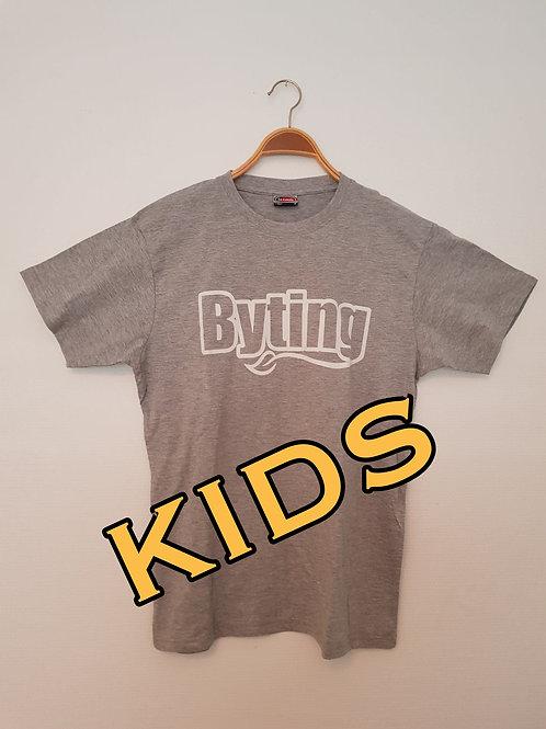 Byting t-skjurte kvit KIDS