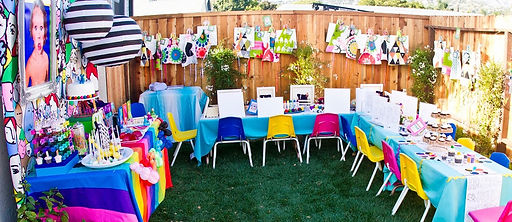 art parties,parties, party, paint party, kids, teens, watercolor, fun.