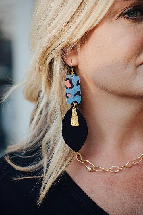 Bella Rey Leather Earrings