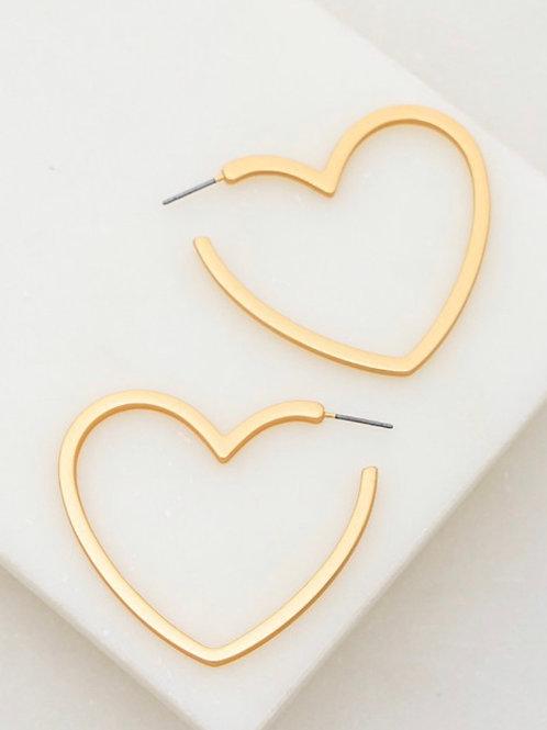 Heart shape hoop earrings