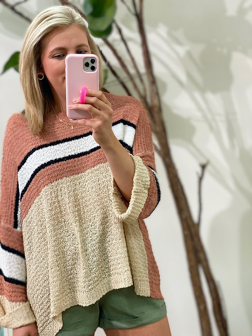 Corinna colorblock sweater