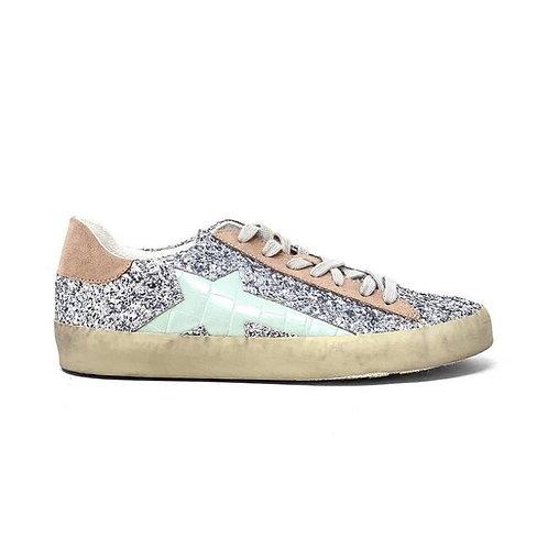 Sabrina Silver Star Sneakers