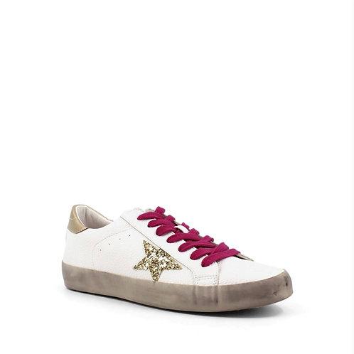 Paula White Gold Star Sneaker