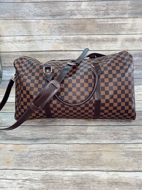 Checkered Weekend Bag