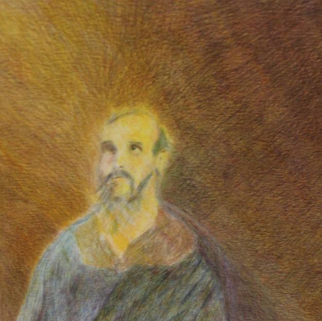 """The Beloved Apostle"", Artist Denise Gracias.j"