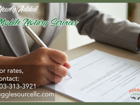 Notary Public Added to Juggle Source Services
