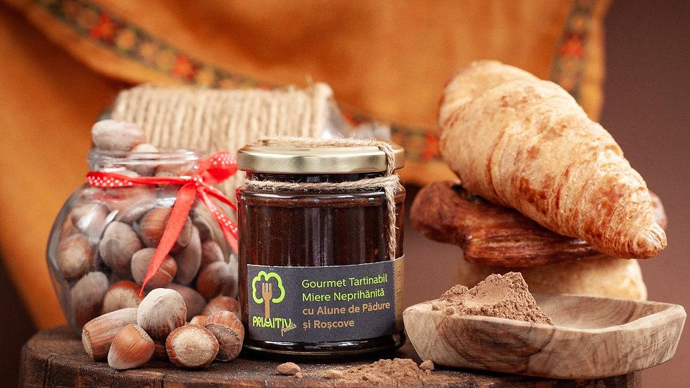 Honey with Hazelnuts and Carob - Gourmet Spread