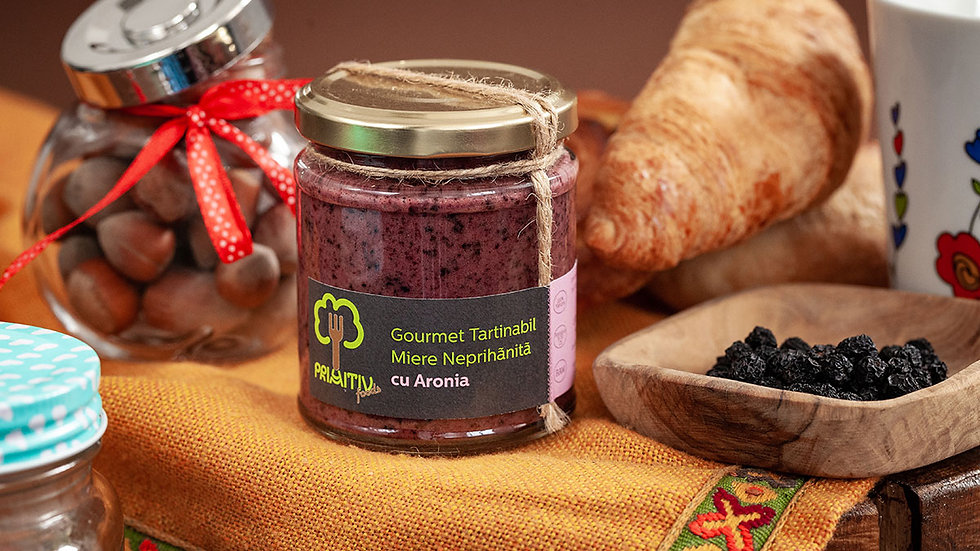 Honey with Aronia berries - Gourmet Spread