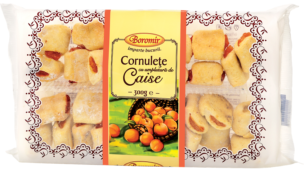 SHORTDOUGH COOKIES WITH APRICOT (CORNULETE CAISE)