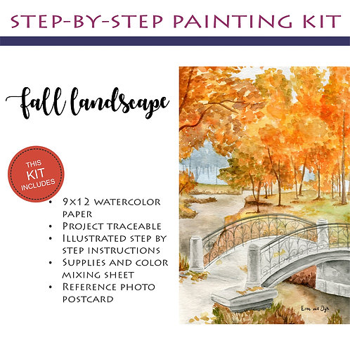Step by Step Painting Kit: Fall Landscape