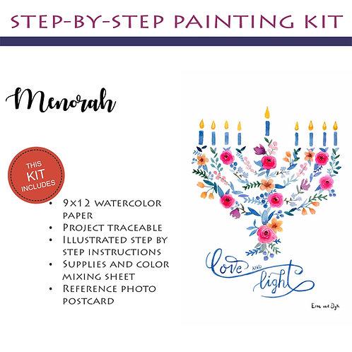 Step by Step Painting Kit: Menorah
