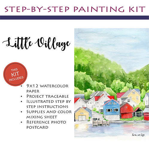 Step by Step Painting Kit: Little Village