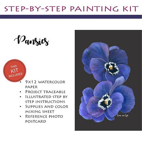 Step by Step Painting Kit: Pansies
