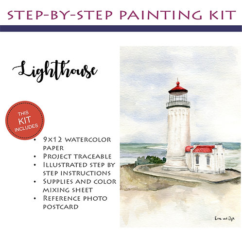 Step by Step Painting Kit: Lighthouse