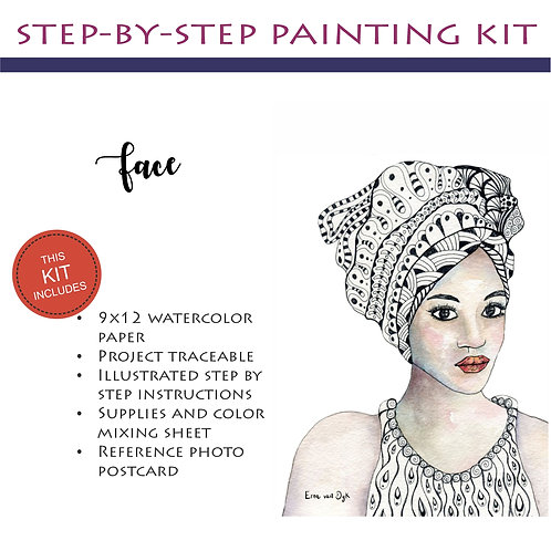 Step by Step Painting Kit: Face