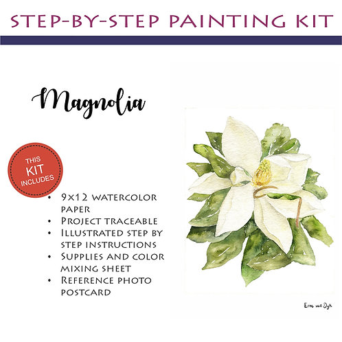 Step by Step Painting Kit: Magnolia