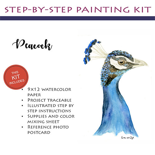 Step by Step Painting Kit: Peacock