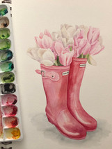 Tulips in Boots