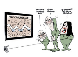 Cave Rescue Greens Global Warming