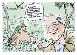 Malcolm Turnbull David Attenborough