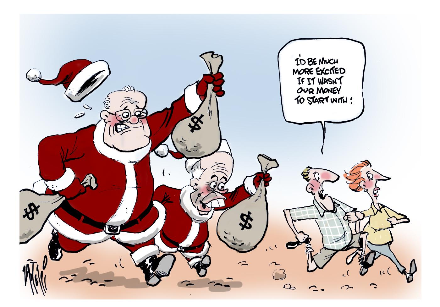 Morrison Shorten Christmas bribes