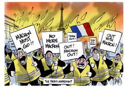 Paris France Riots Emannuel Macron