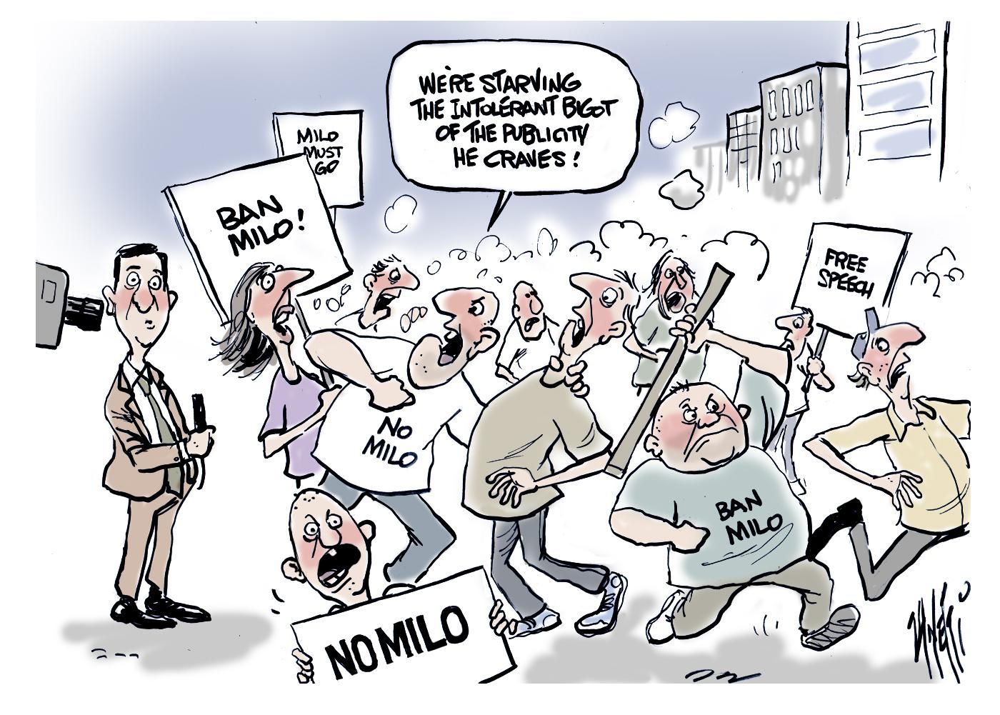 Milo Yiannopoulos Australian riots