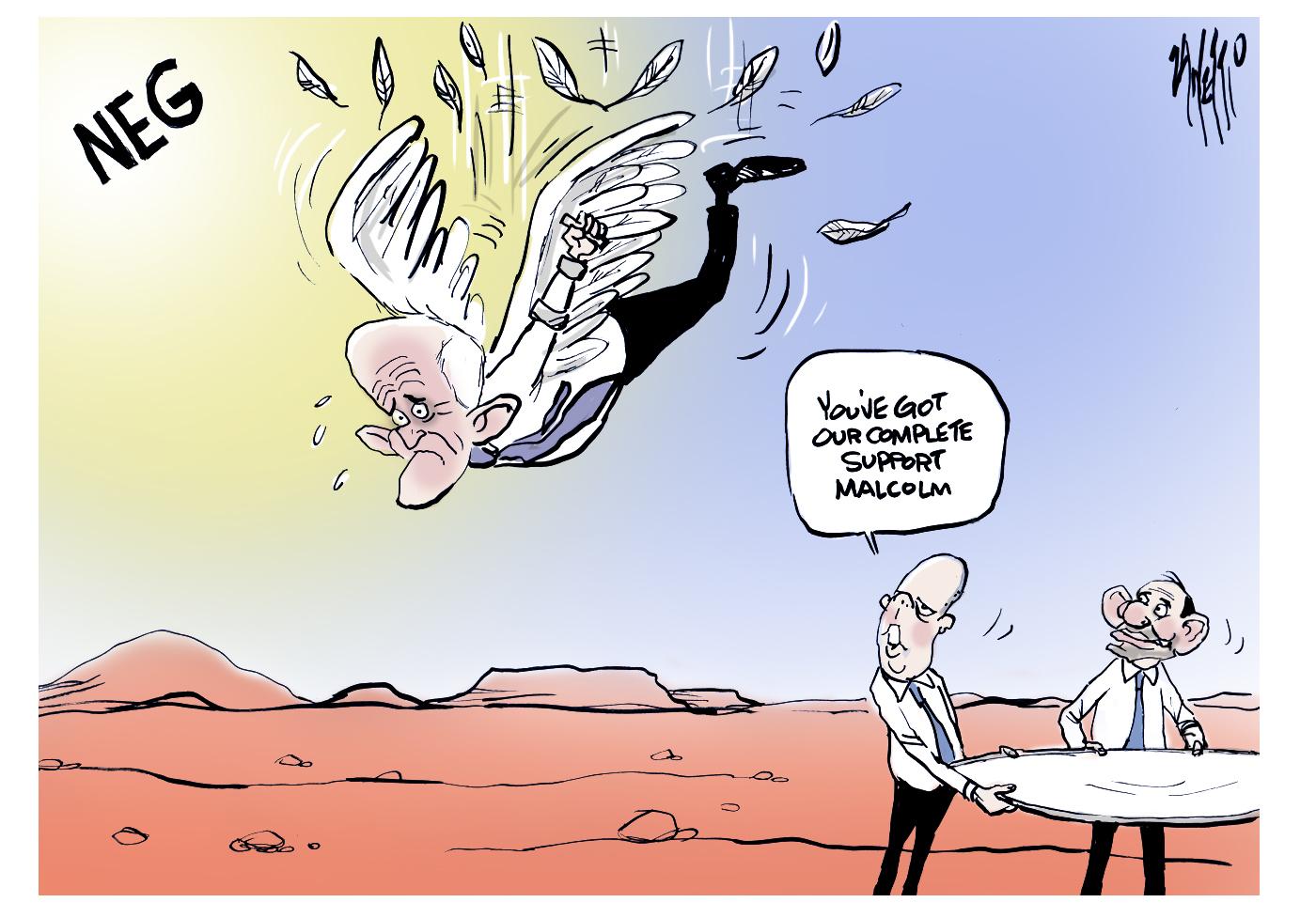 Malcolm Turnbull NEG Peter Dutton