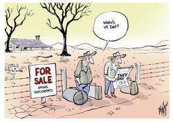 Australian Farmets Drought They Day