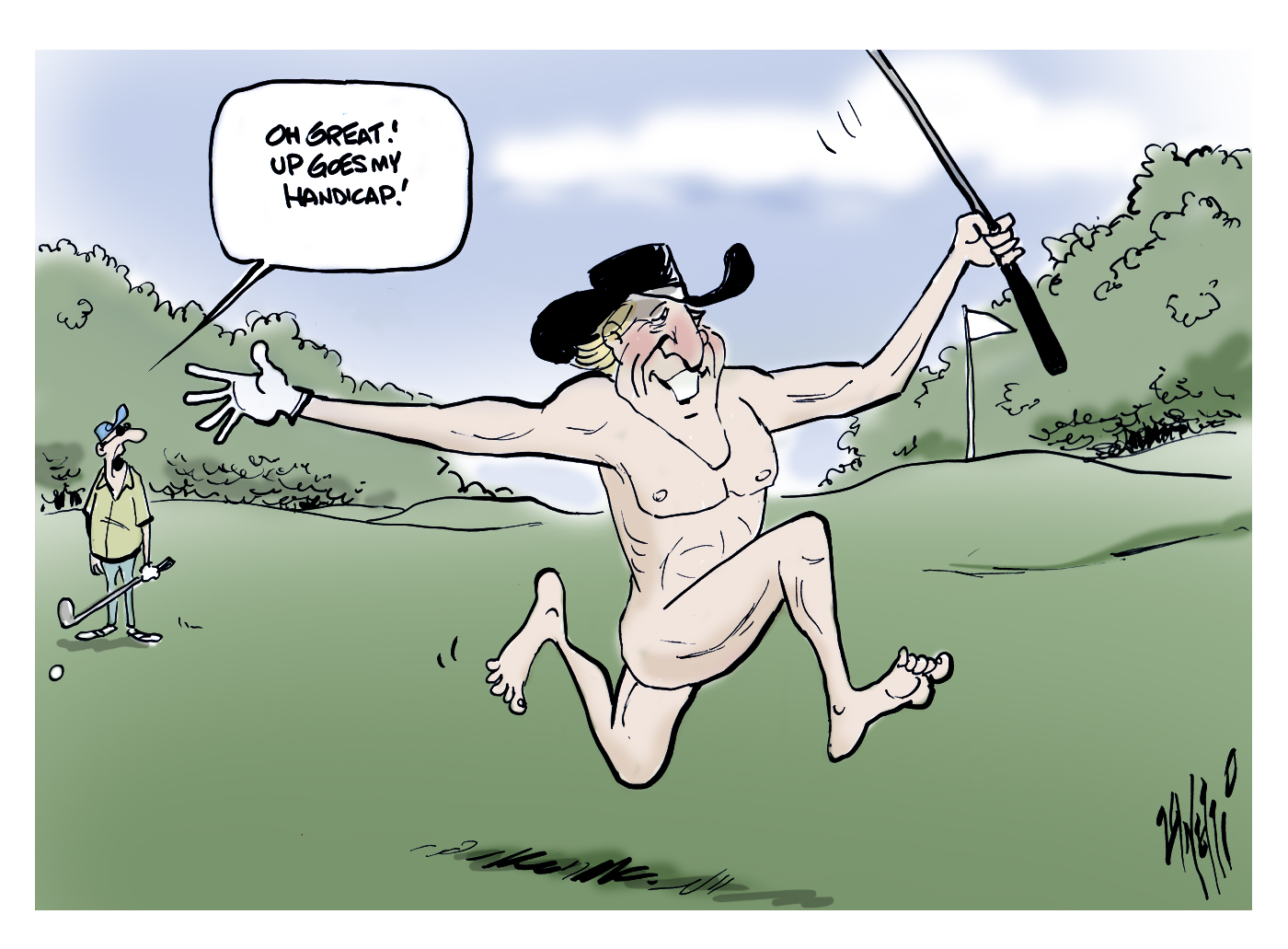 Greg Norman goes naked for ESPN