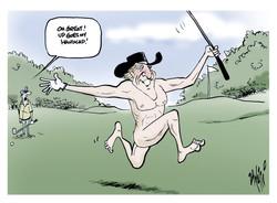 Greg Norman goes naked for ESPN