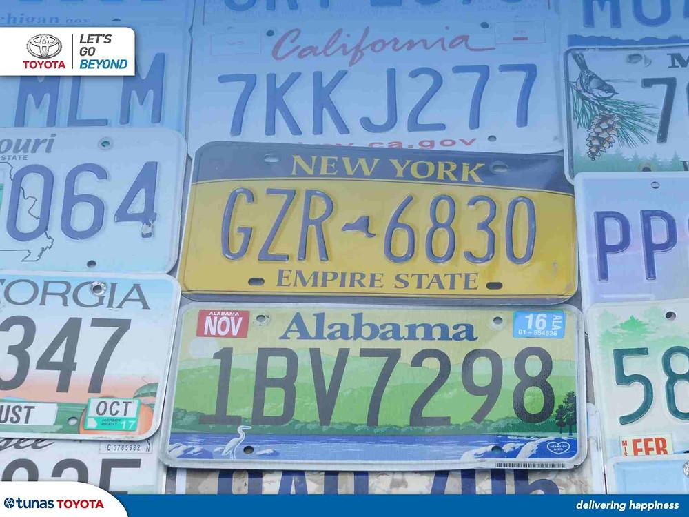 Ilustrasi Pelat Nomor Kendaraan