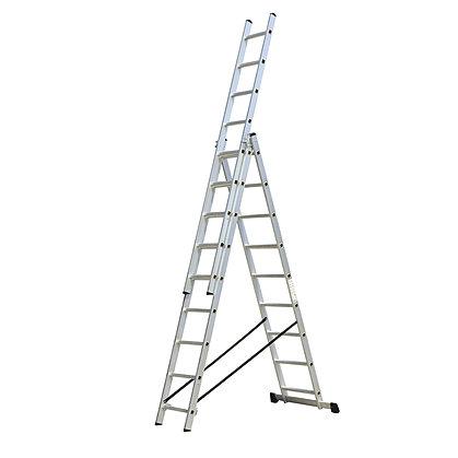 Escaleras de aluminio escaleras tipo tijera 3x9 for Escalera telescopica tipo tijera
