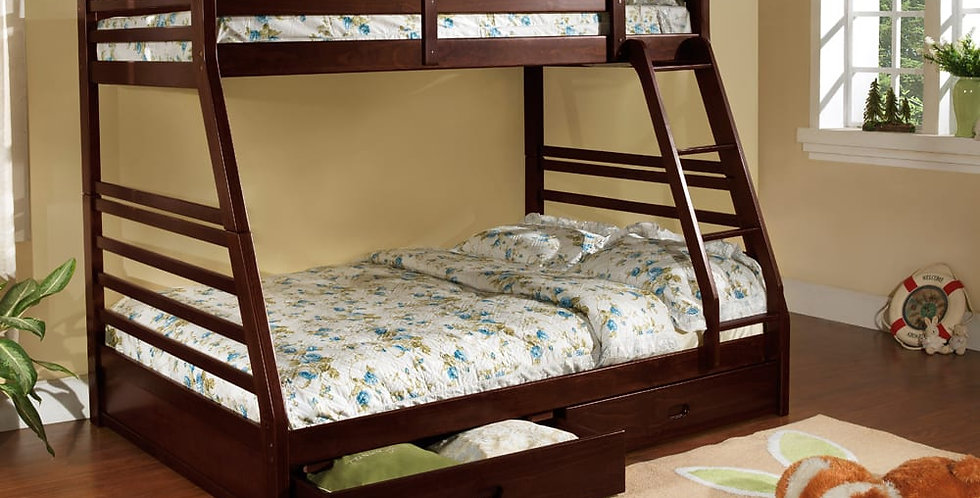 Theresa Twin Over Double Bunk Bed