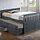 Thumbnail: REBECCA T317 CAPTAIN BED WITH TRUNDLE AND DRAWERS