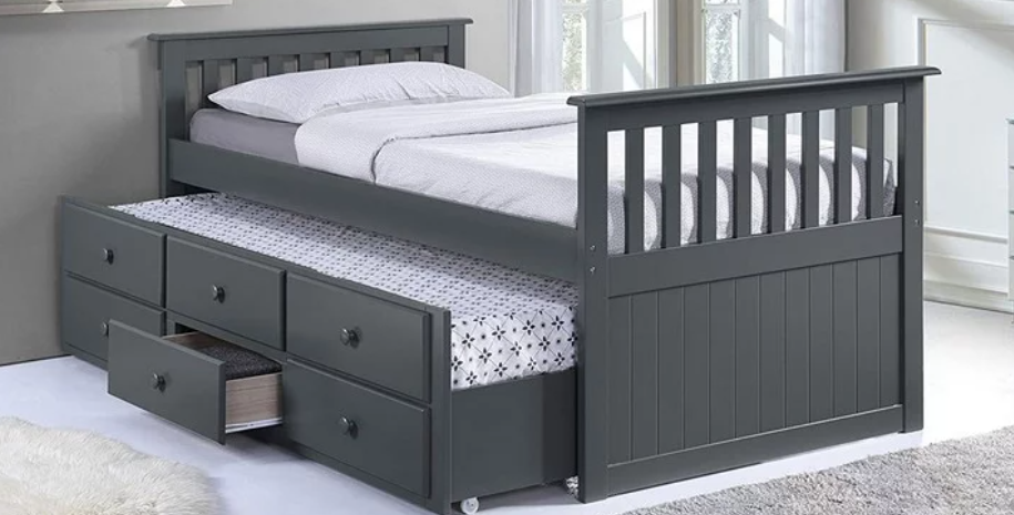 ETHAN i314 CAPTAIN BED WITH DRAWER &TRUNDLE