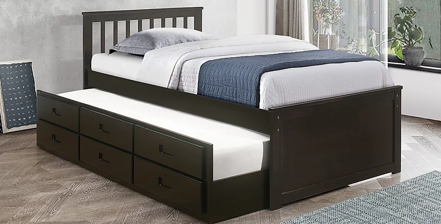 GREGORY 300 PLATFORM BED WITH TRUNDLE AND DRAWERS
