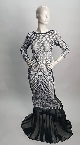 Lace & Sequins Mermaid Dress
