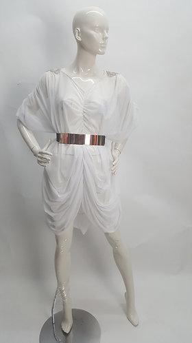 Oversized Round Drape Dress