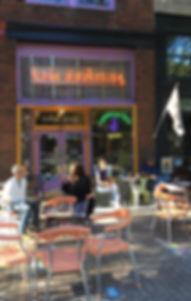 Rude Awakening coffee house sidewalk cafe