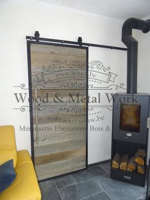 Porte coulissante industrielle