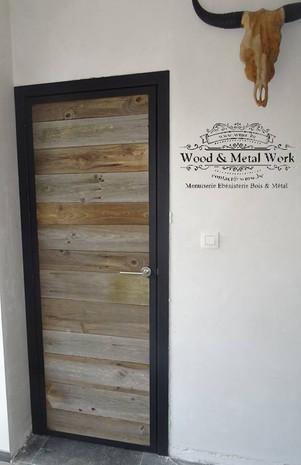 Porte industrielle bois et métal
