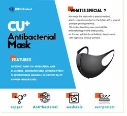 CU+ antibacterial mask