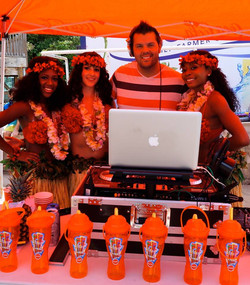 Summer event at White Water with the hula girls